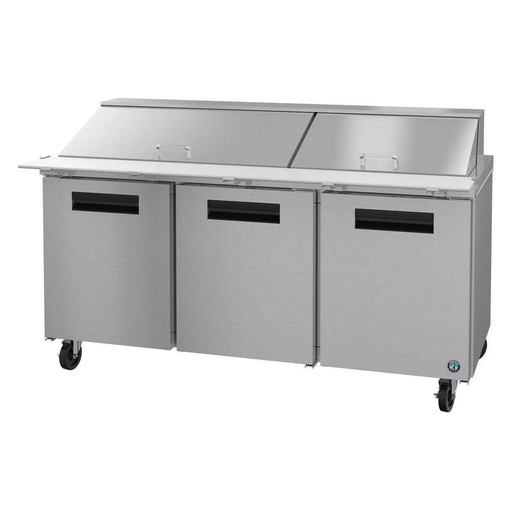 "Hoshizaki CRMR72-30M 72"" Sandwich/Salad Prep Table w/ Refrigerated Base, 115v"