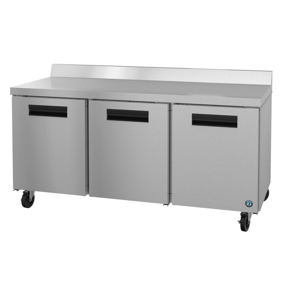 "Hoshizaki CRMR72-W 72"" Worktop Refrigerator w/ (3) Sections, 115v"