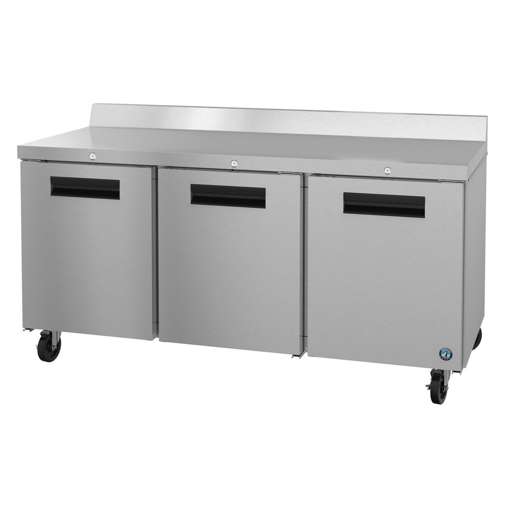 "Hoshizaki CRMR72-W01 72"" Worktop Refrigerator w/ (3) Sections, 115v"