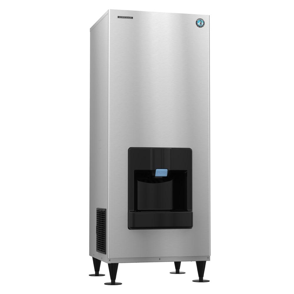Hoshizaki DKM-500BAJ Floor Model Crescent Cube Ice Dispenser w/ 140 lb Storage - Bucket Fill, 115v