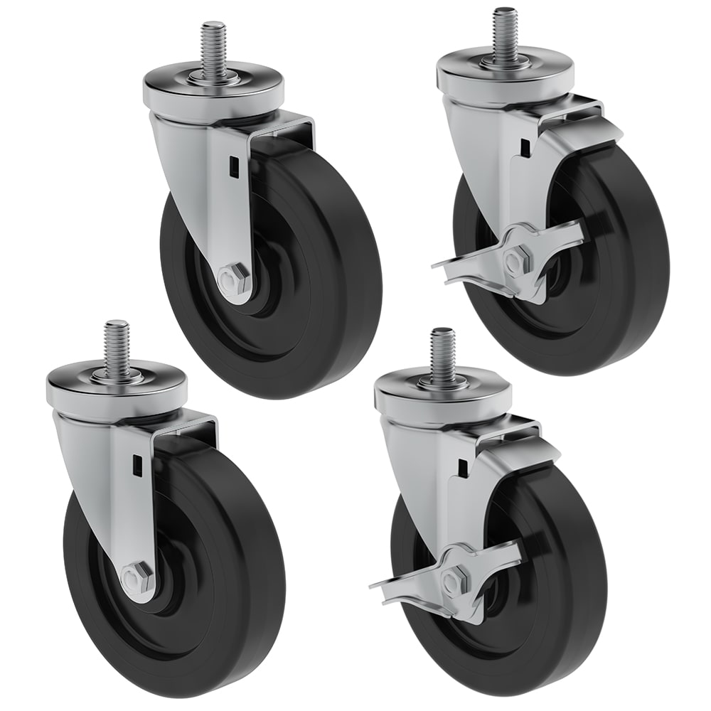 "Hoshizaki HS-5036 6"" Casters for (1) & (2) Section Commercial Series Undercounter Refrigerators"
