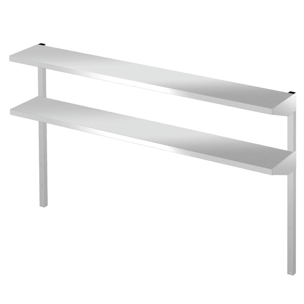 "Hoshizaki HS-5163 Double Overshelf for 27"" Undercounter, Worktop, & Prep Table Refrigerators, Stainless"