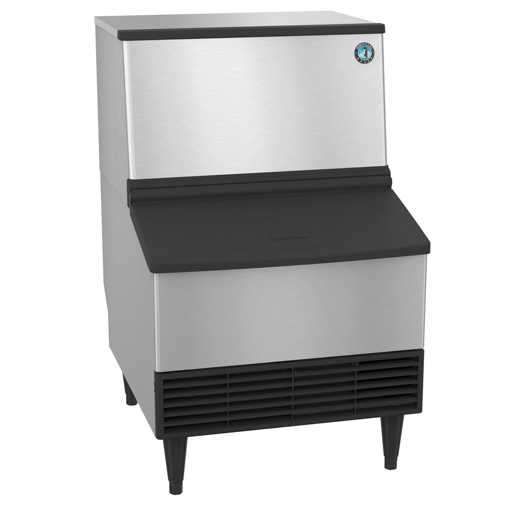 Hoshizaki KM-201BAH 201 lb. Crescent Cube Ice Maker with Bin - 80 lb. Storage, Air Cooled, 115v