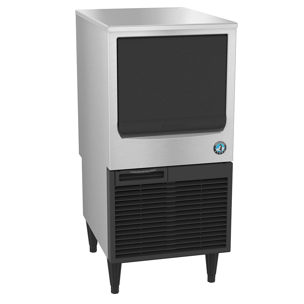 "Hoshizaki KM-80BAJ 39""H Crescent Cube Undercounter Ice Maker - 86 lbs/day, Air Cooled, ADA"