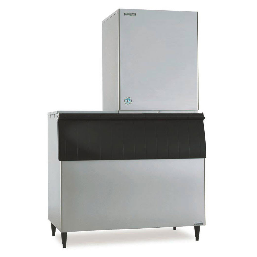 Hoshizaki KM-901MAH/B700PF/HS-2034 920 lb. Crescent Cube Ice Maker with Bin - 700 lb. Storage, Air Cooled, 208v/1ph