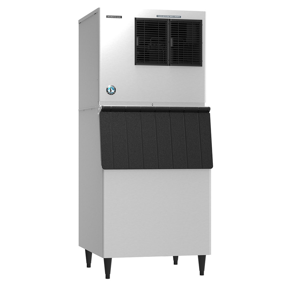 Hoshizaki KML-325MAJ/B-500PF 380 lb. Crescent Cube Ice Maker with Bin - 500 lb. Storage, Air Cooled, 115v