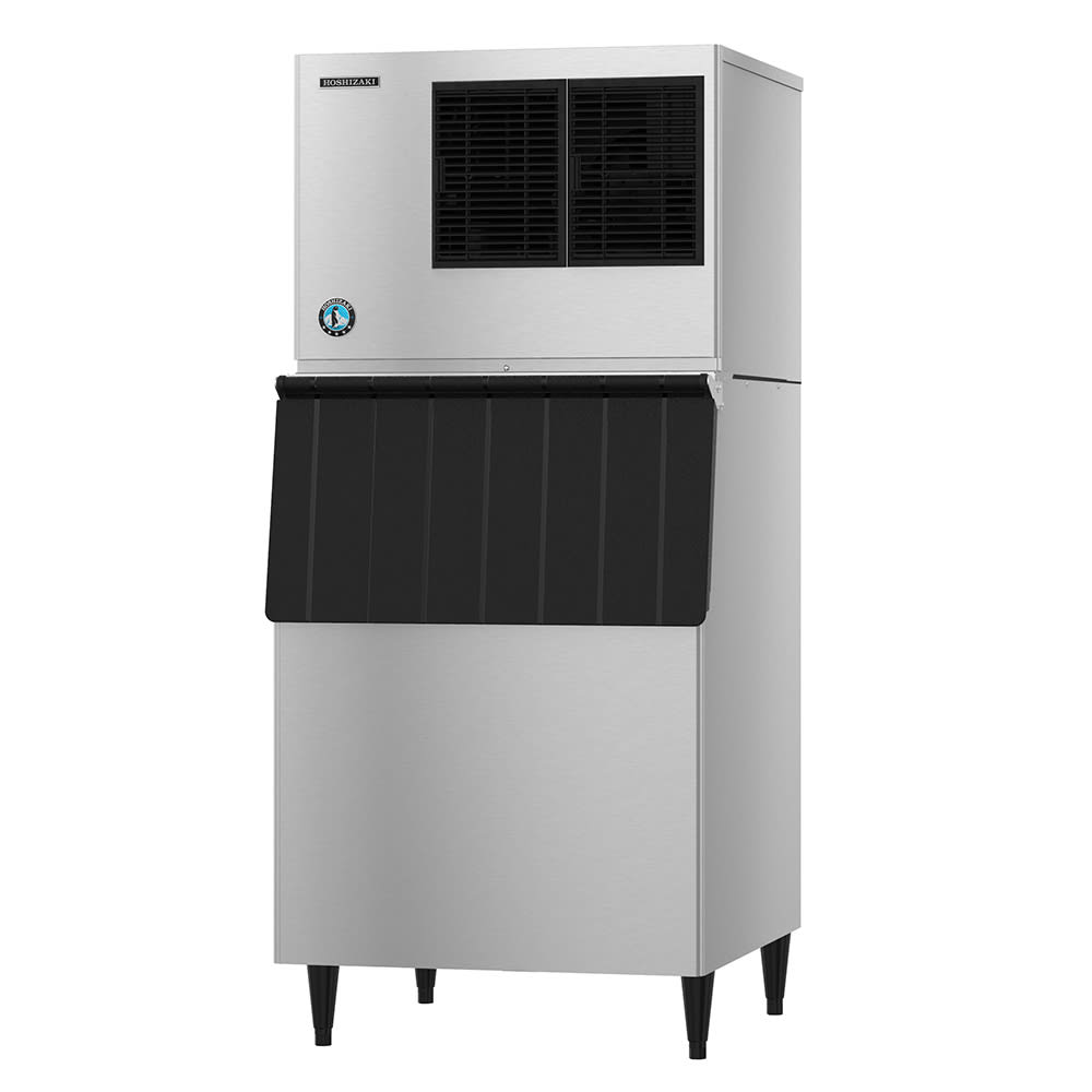 Hoshizaki KML-500MAJ/B-500PF 442 lb. Crescent Cube Ice Maker with Bin - 500 lb. Storage, Air Cooled, 115v