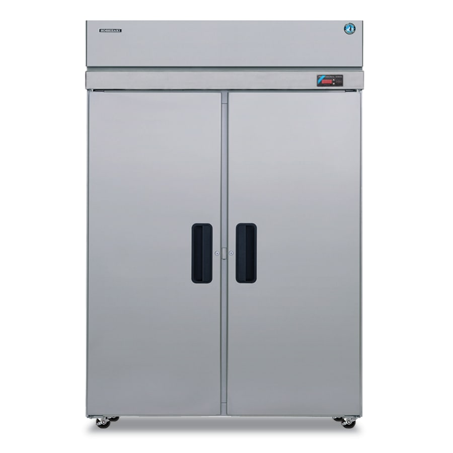 """Hoshizaki PTR2SSE-FSFS 55"""" Two Section Pass-Thru Refrigerator, (2) Solid Door, 115v"""
