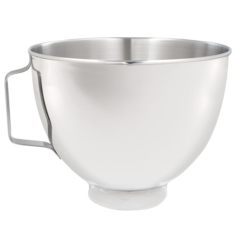 KitchenAid K45SBWH Stainless Steel Bowl w/Handle for 4.5-qt KitchenAid Stand Mixers