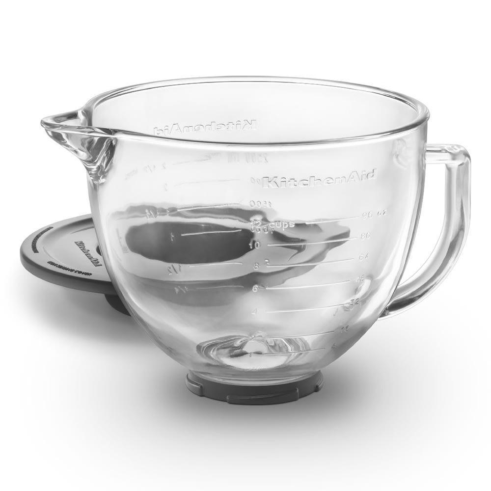 KitchenAid K5GB Glass Bowl w/ Measurement Markings & Lid for 5 qt KitchenAid Stand Mixers