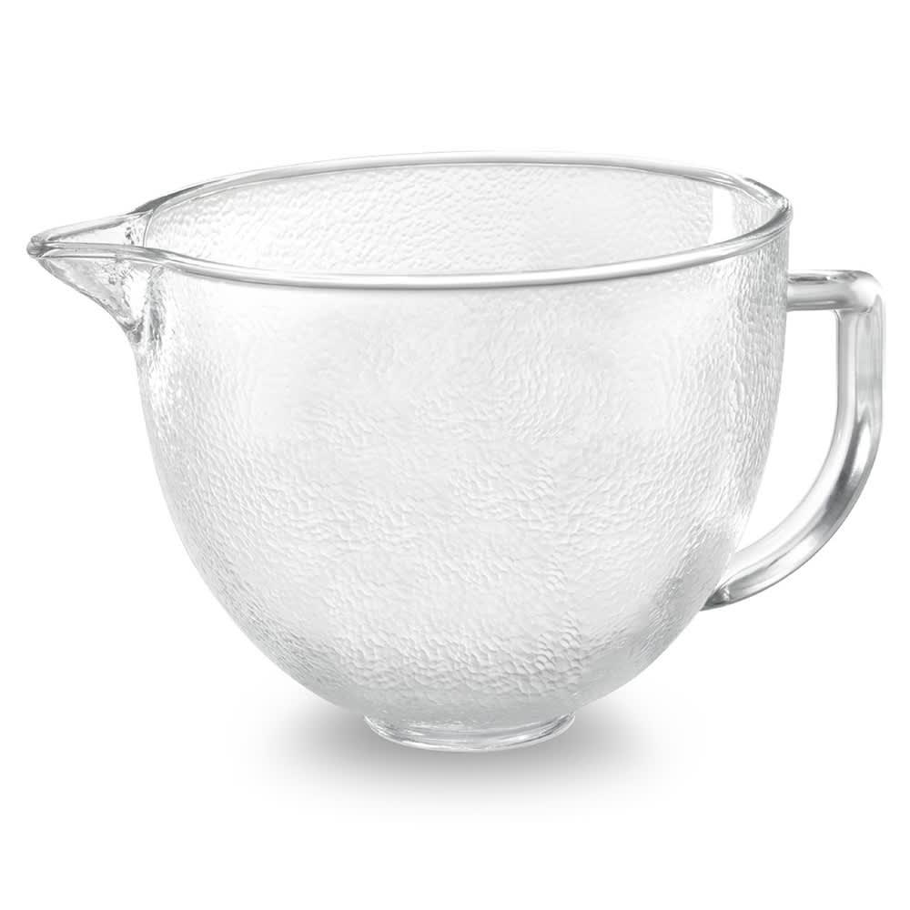 KitchenAid K5GBH Hammered Glass Bowl w/ Lid for 5 qt KitchenAid Stand Mixers