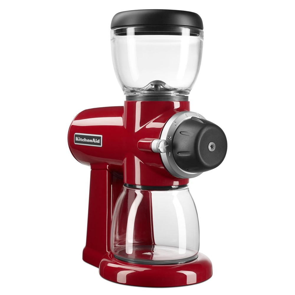 KitchenAid KCG0702ER 7 oz Burr Coffee Grinder w/ 15 Grind Settings, Empire Red