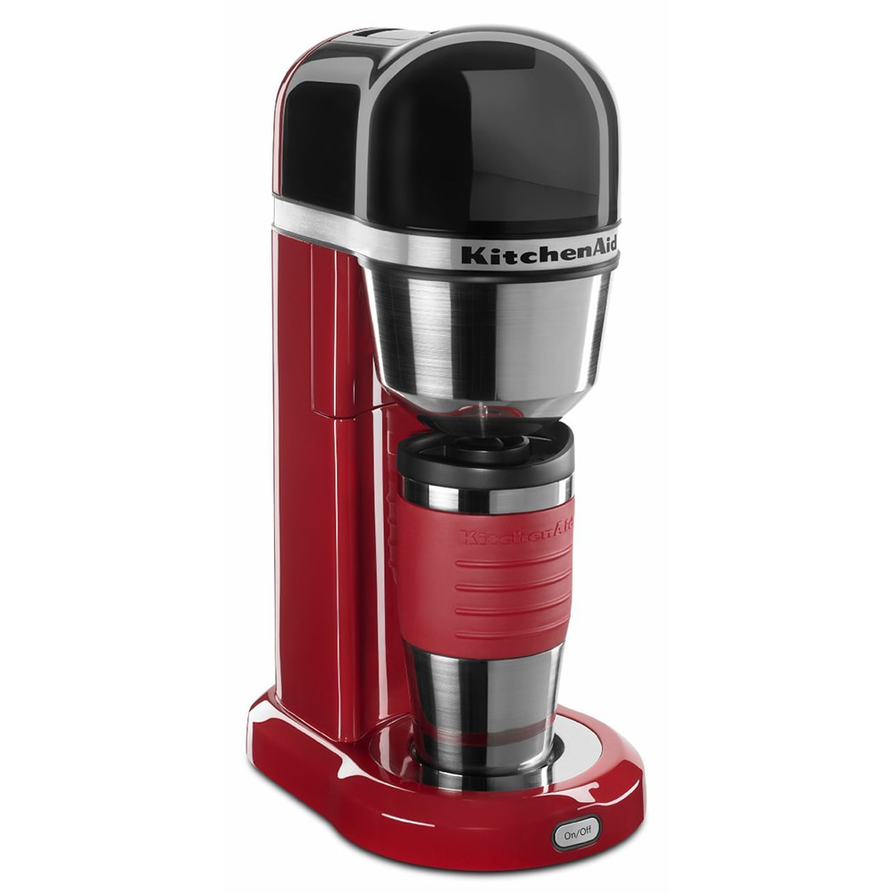 kitchenaid kcm0402er kitchenaid personal 18 oz drip coffee maker accommodates travel mugs red - Kitchen Aid Coffee Maker
