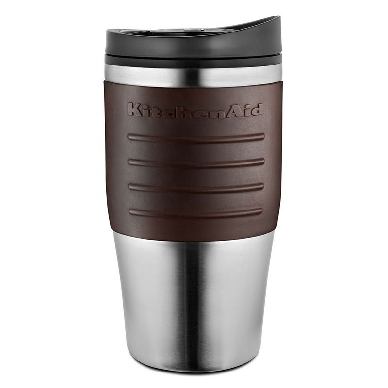 KitchenAid KCM0402TMES 18-oz Replacement Travel Mug for KCM0402 - Plastic Lid, Espresso Grip