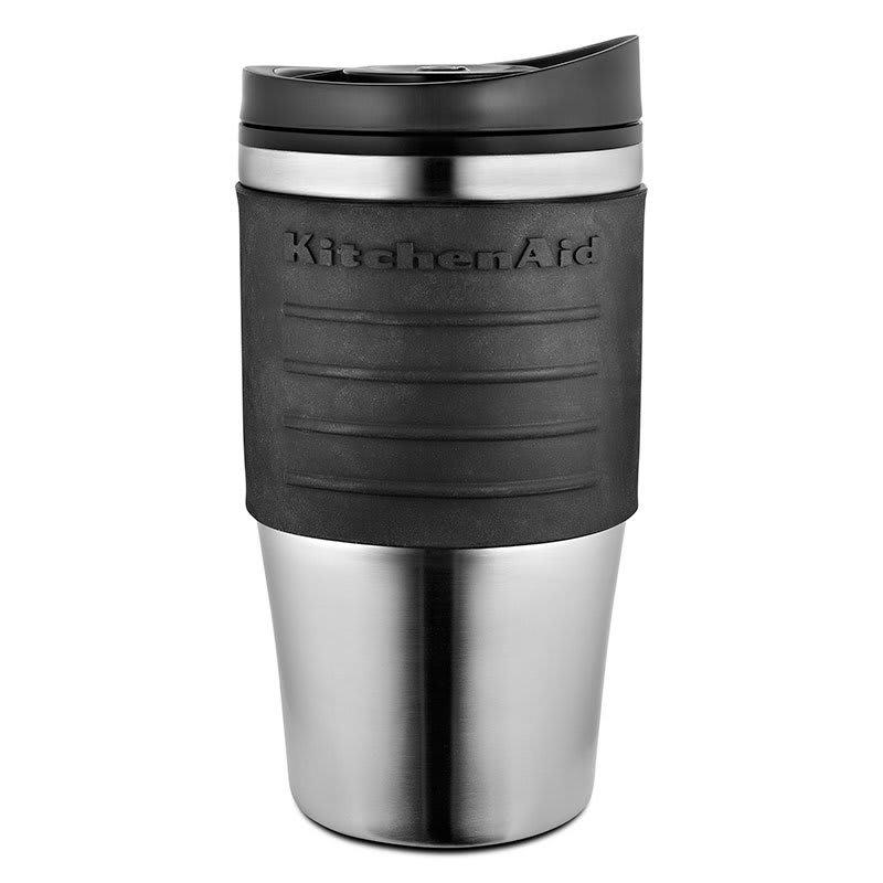 KitchenAid KCM0402TMOB 18 oz Replacement Travel Mug for KCM0402 - Plastic Lid, Black Grip