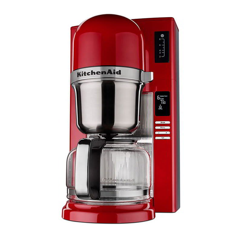 KitchenAid KCM0802ER 8-Cup Pour Over Coffee Maker w/ Carafe - 24-hr Programmability, Empire Red