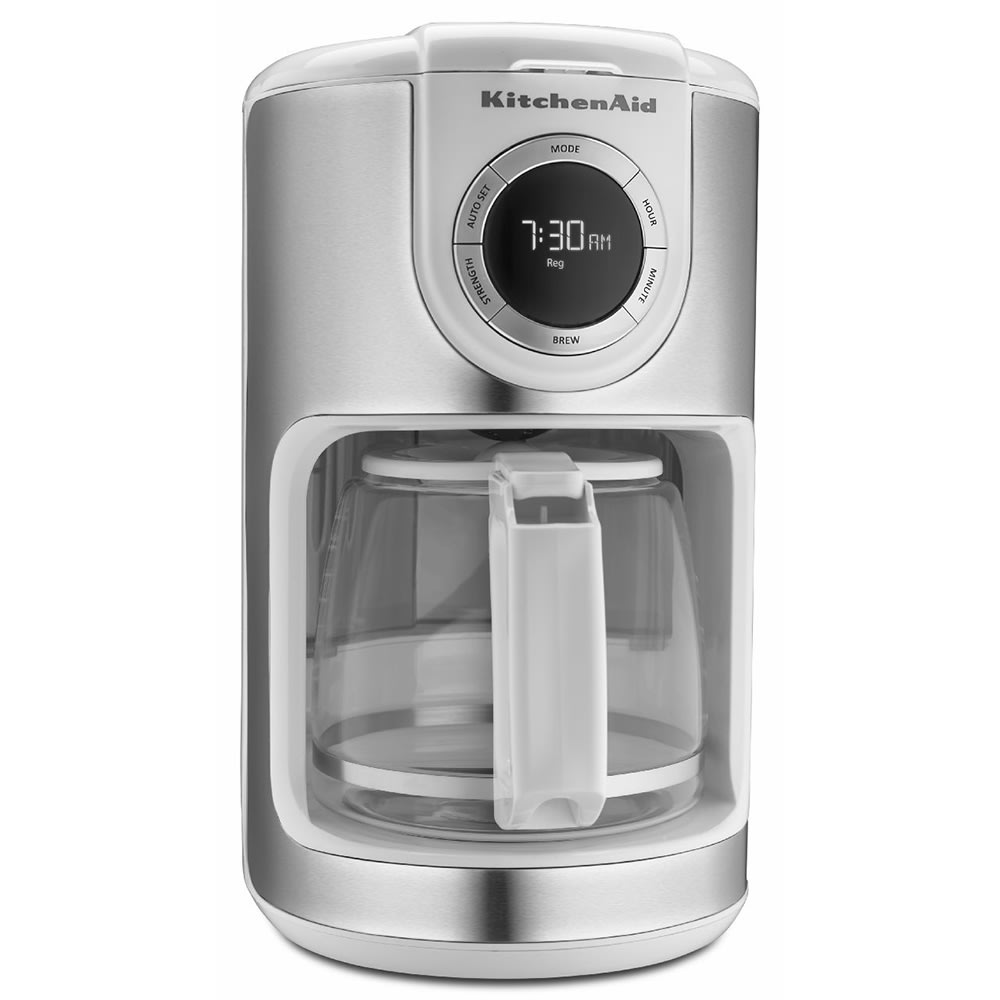 KitchenAid KCM1202WH KitchenAidR 12 Cup Drip Coffee Maker W Programmable Settings White