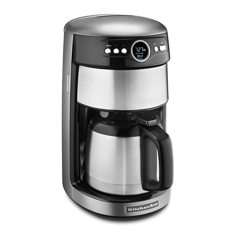 KitchenAid KCM1203CU 12-cup Coffee Maker w/Thermal Carafe, Programmable, Contour Silver