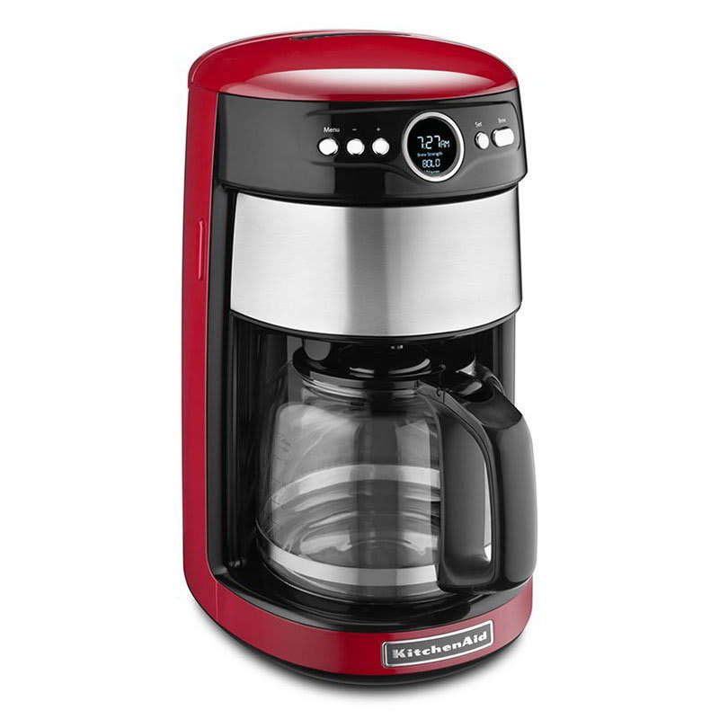 Swell Kitchenaid Kcm1402Er Kitchenaid 14 Cup Drip Coffee Maker W Programmable Settings Red Home Remodeling Inspirations Gresiscottssportslandcom