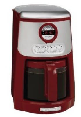 KitchenAid KCM534ER JavaStudio Series 14 Cup Programmable Coffee Maker,  Empire Red