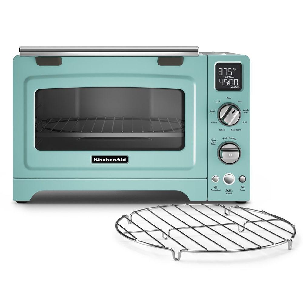 """KitchenAid KCO275AQ 12"""" Countertop Convection Oven w/ (9) Pre-Programmed Functions, Aqua Sky"""