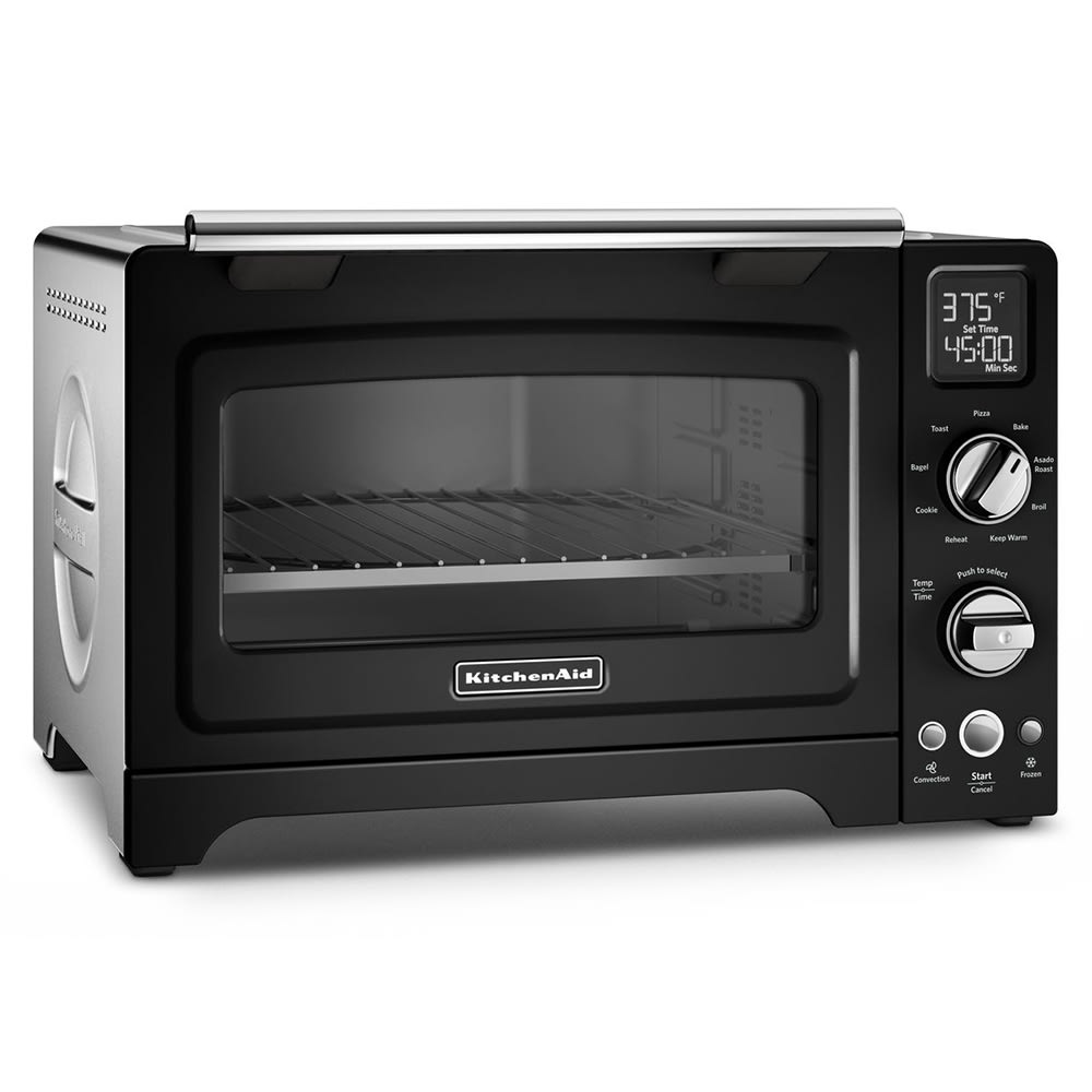 """KitchenAid KCO275OB 12"""" Countertop Convection Oven w/ (9) Pre-Programmed Functions, Onyx Black"""