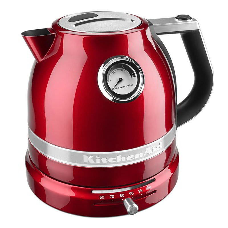 KitchenAid KEK1522CA 1.5L Electric Kettle w/ Temperature Control, Candy Apple Red