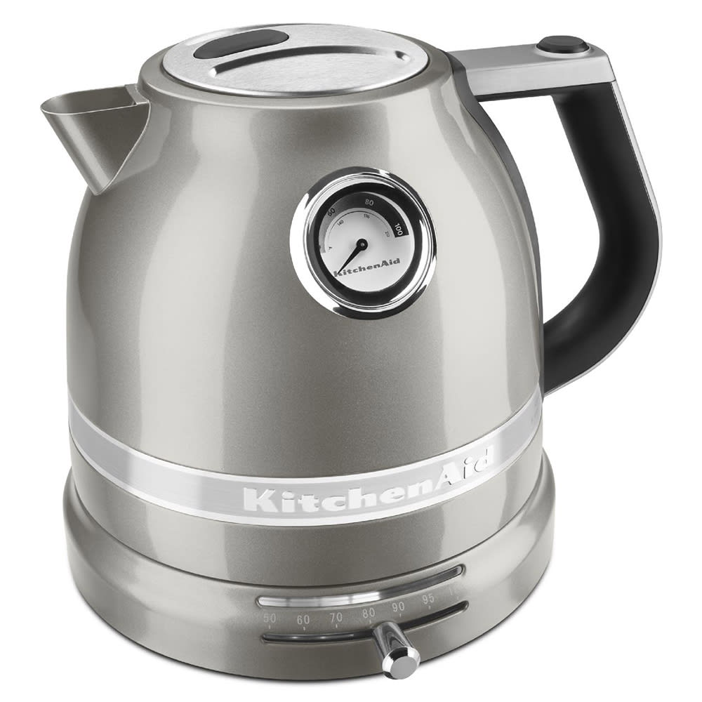 KitchenAid KEK1522SR 1.5L Electric Kettle w/ Temperature Control, Sugar  Pearl Silver