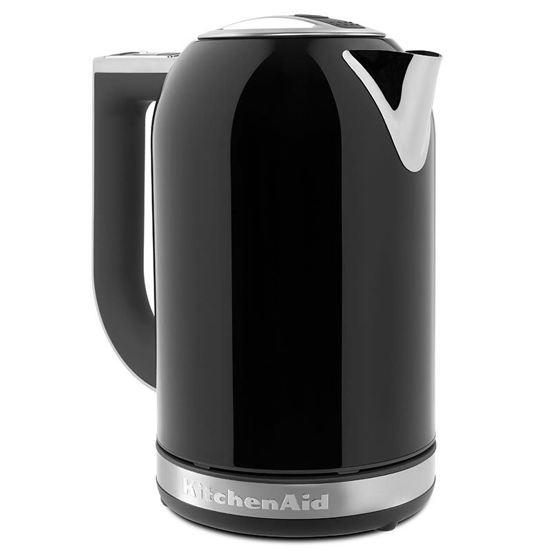 KitchenAid KEK1722OB 1.7L Electric Kettle w/ Cup Markings & Digital Temperature Display, Onyx Black