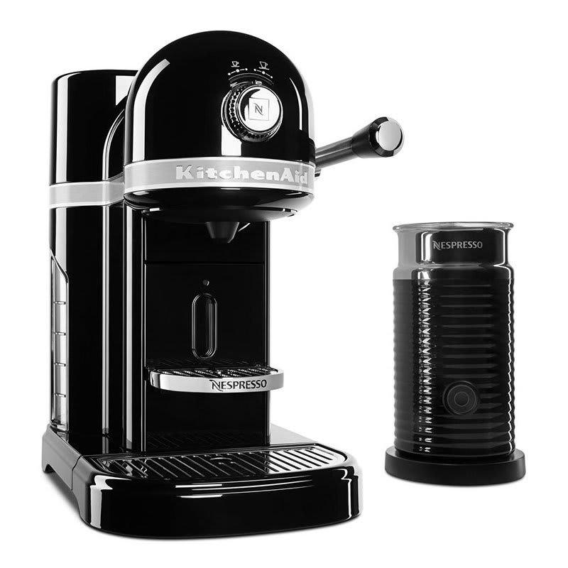 KitchenAid KES0504OB0 Nespresso® 1.3L Espresso Coffee Maker w/ Milk Frother, Black