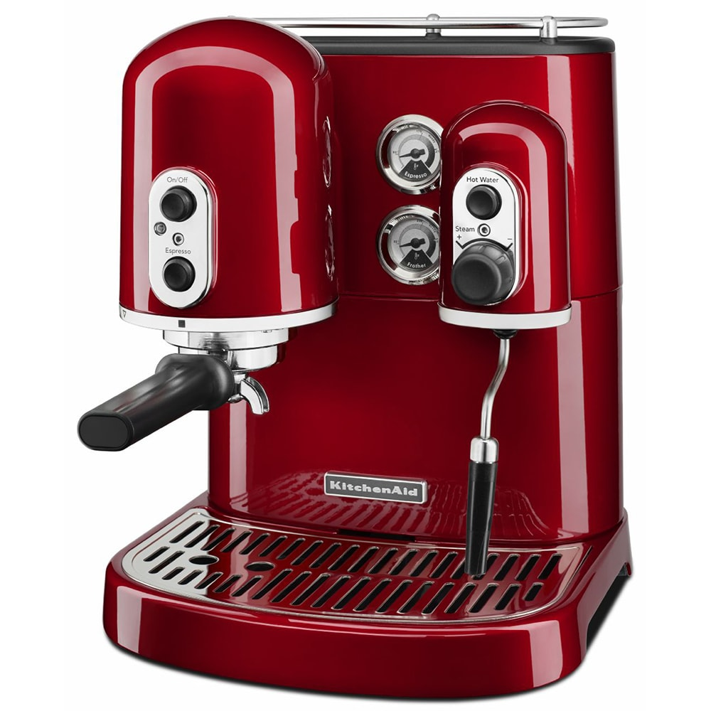 kitchenaid kes2102ca pro line series 75 cup espresso coffee maker w milk frother red - Kitchen Aid Coffee Maker