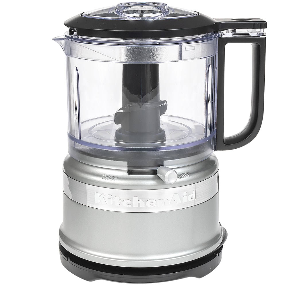 KitchenAid KFC3516CU 3.5 cup Mini Food Processor w/ (2) Speeds, Contour Silver