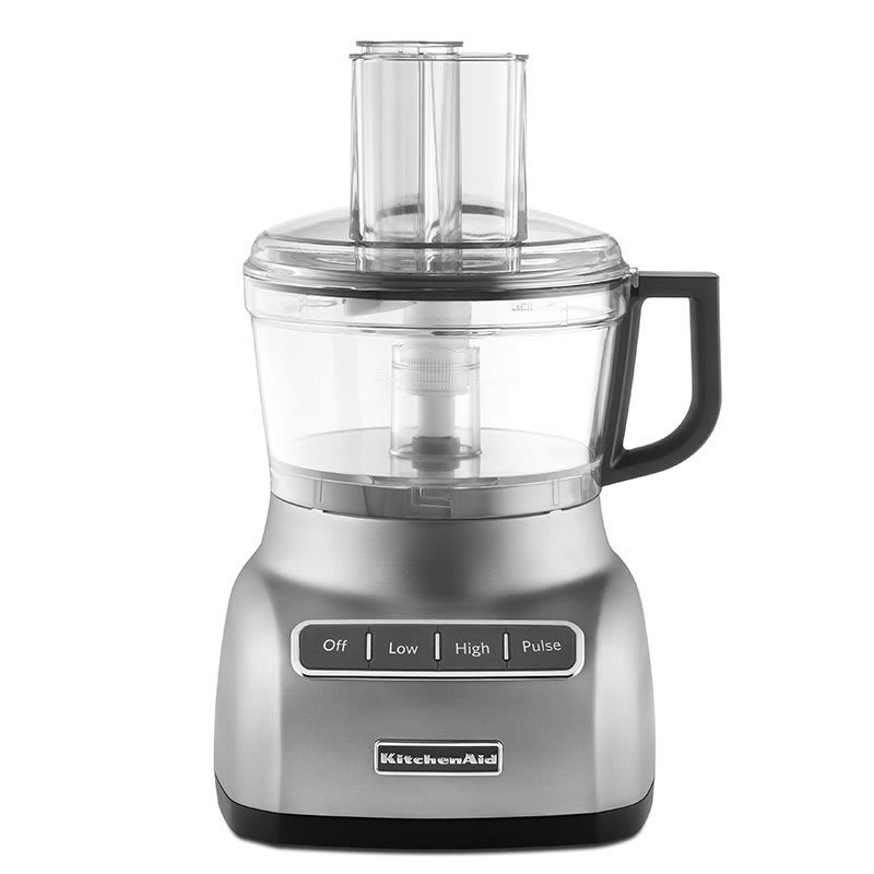 KitchenAid KFP0711CU 3-Speed Food Processor w/ 7-Cup Capacity, Contour Silver