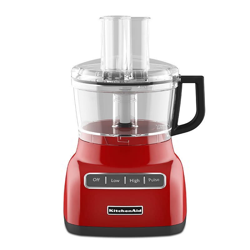 KitchenAid KFP0711ER 3-Speed Food Processor w/ 7-Cup Capacity, Empire Red