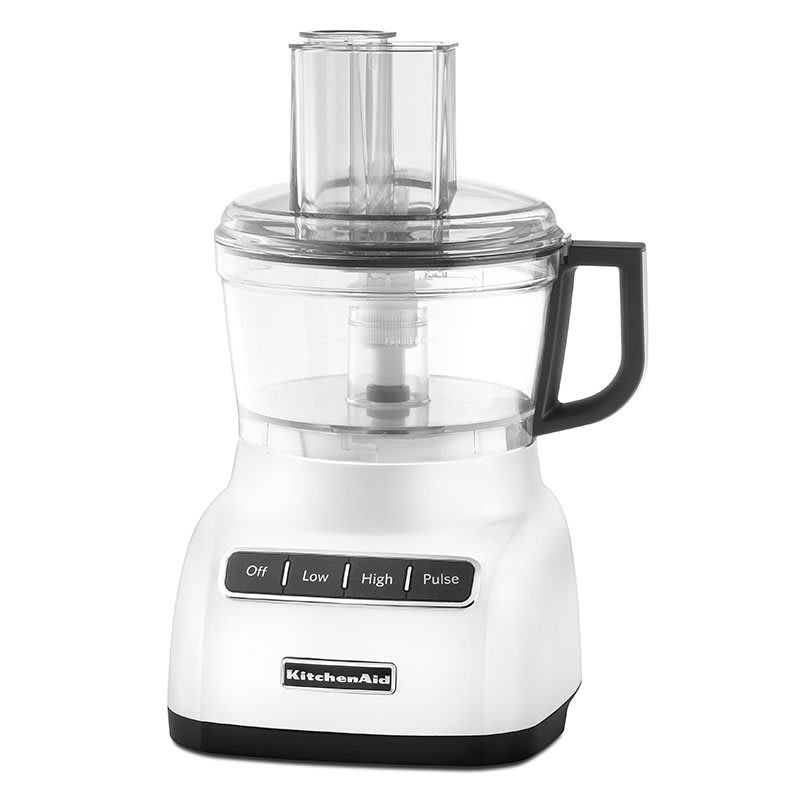 KitchenAid KFP0711WH 3-Speed Food Processor w/ 7-Cup Capacity, White