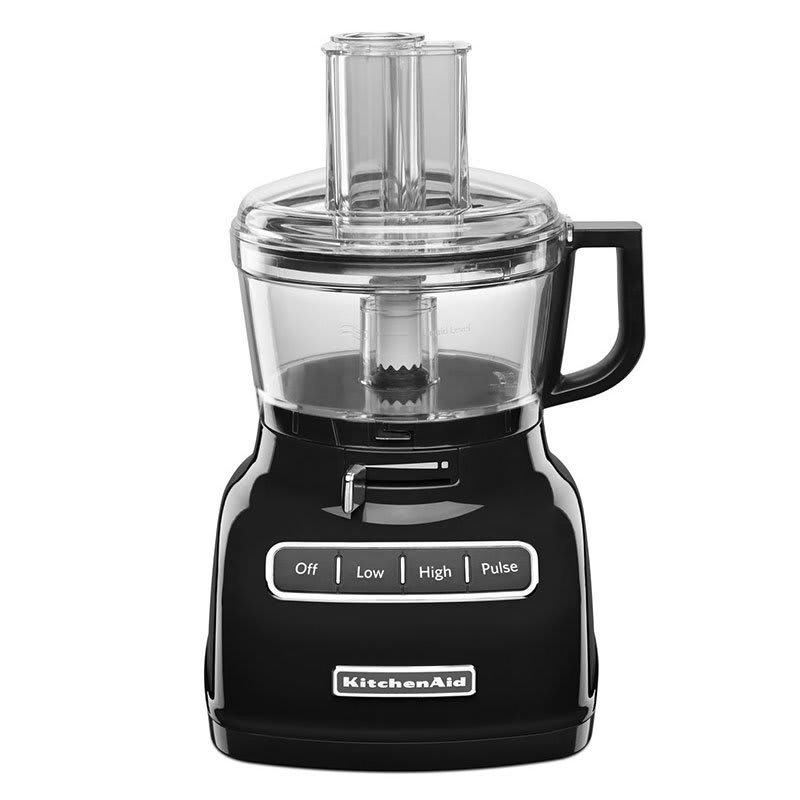 KitchenAid KFP0722OB 3-Speed Food Processor w/ 7-Cup Capacity, Onyx Black