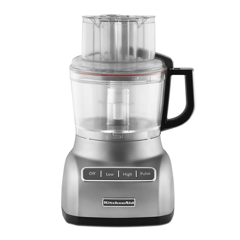 KitchenAid KFP0922CU 3 Speed Food Processor w/ 9 Cup Capacity, Contour Silver