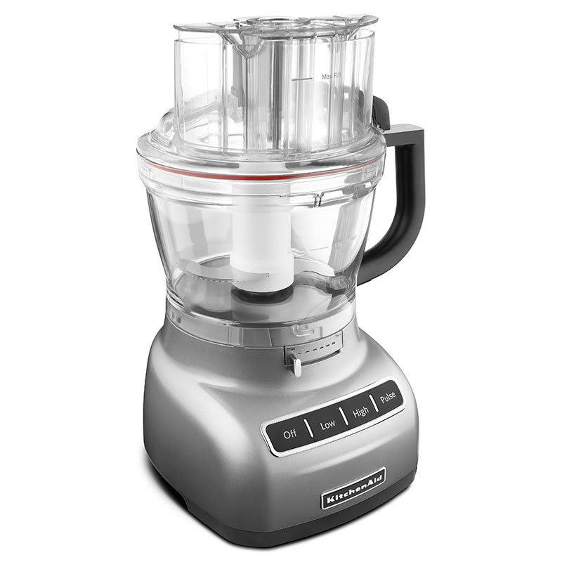 Kitchenaid Kfp1333cu 13 Cup Food Processor Bpa Free Work Bowl Contour Silver