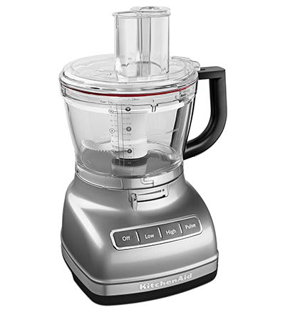 KitchenAid KFP1466CU 3 Speed Food Processor w/ 14 Cup Capacity, Contour Silver