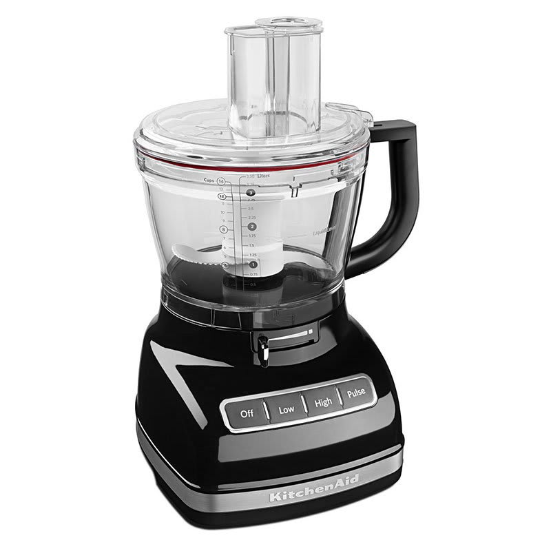 KitchenAid KFP1466OB 3-Speed Food Processor w/ 14-Cup Capacity, Onyx Black