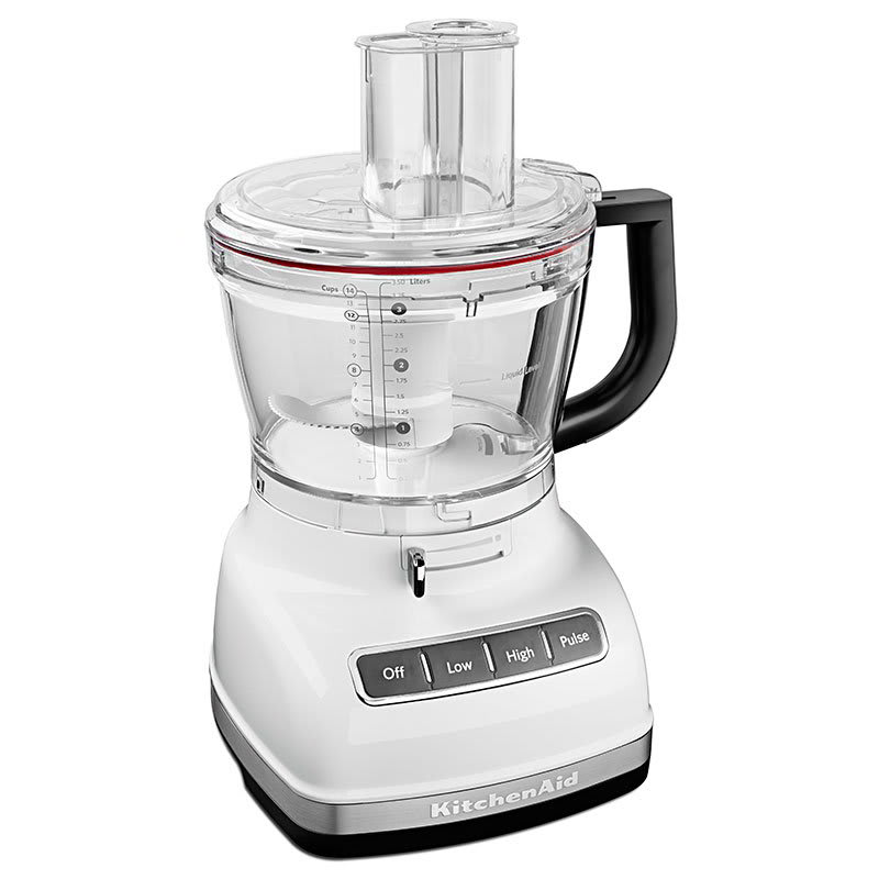 KitchenAid KFP1466WH 3-Speed Food Processor w/ 14-Cup Capacity, White