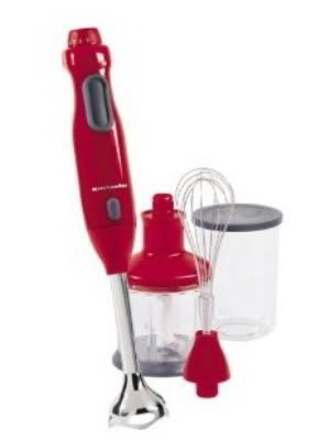 kitchenaid khb300er immersion blender includes whisk and chopper