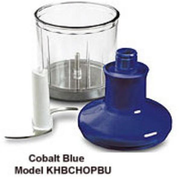 KitchenAid KHBCHOPBU Chopper Attachment for Immersion Blender, Cobalt Blue
