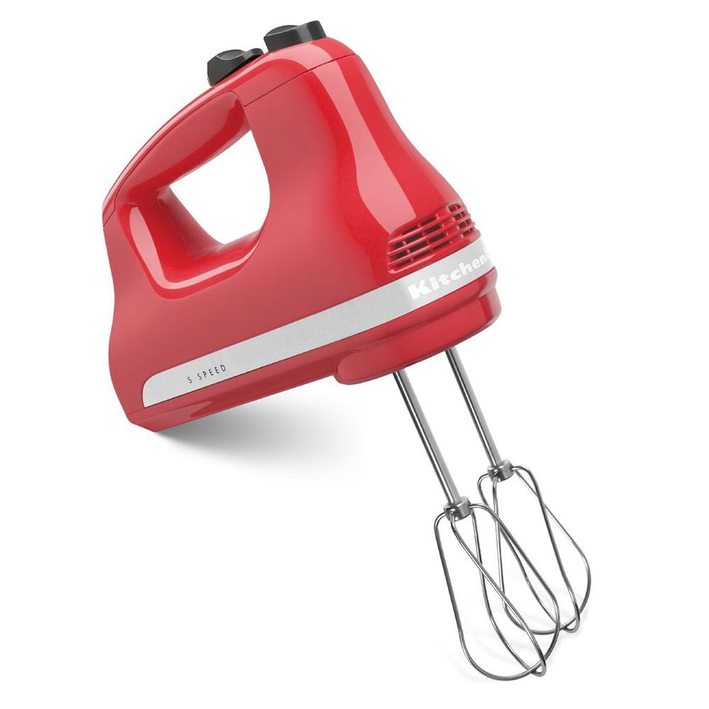 KitchenAid KHM512WM 5 Speed Hand Mixer w/ 2 Stainless Turbo Beater Accessories, Watermelon