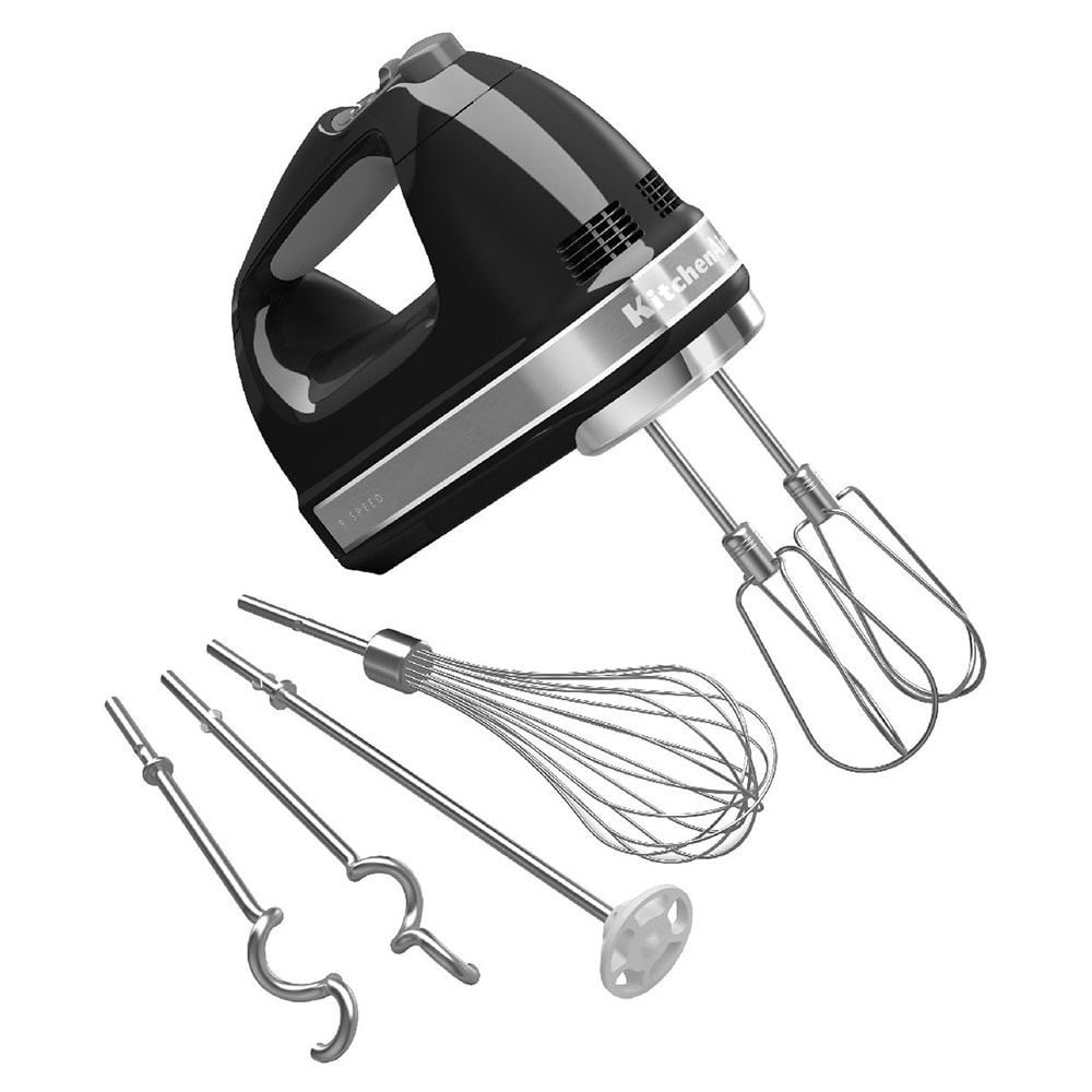 KitchenAid KHM926OB 9 Speed Hand Mixer w/ Exclusive Accessory Pack, Onyx Black