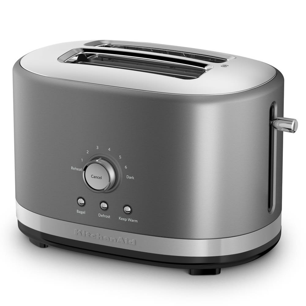 KitchenAid KMT2116CU 2 Slice Toaster w/ Manual High-Lift Lever, Contour Silver