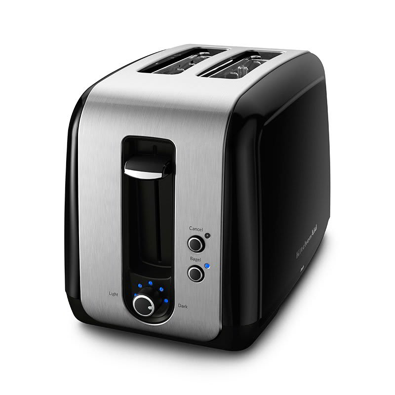 KitchenAid KMT211OB 2-Slice Toaster w/ Bagel Button & LCD Display, Onyx Black