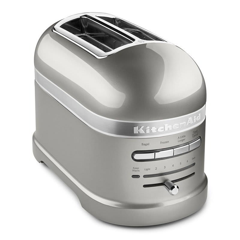 KitchenAid KMT2203SR Pro Line 2-Slice Automatic Toaster - Sugar Pearl Silver