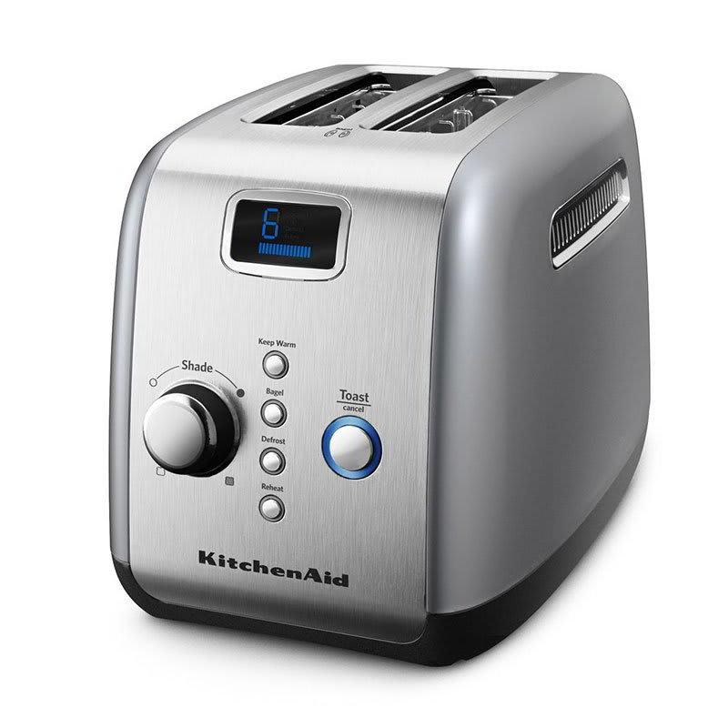 KitchenAid KMT223CU 2-Slice Toaster w/ Digital Lift, Defrost & Reheat, Contour Silver