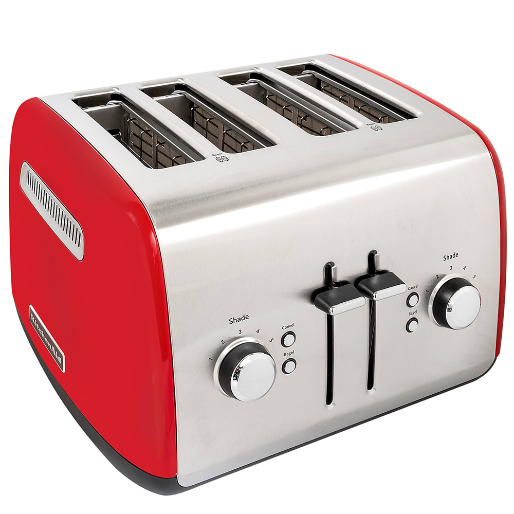 KitchenAid KMT4115ER 4 Slice Toaster w/ Manual High-Lift Lever, Empire Red